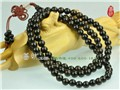 Long Tibetan 108 8mm Black Sandalwood Prayer Beads Mala Necklace
